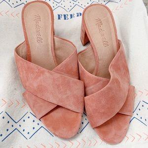Madewell suede block heels US 7 *brand new*
